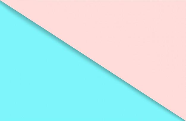 Abstracte geometrische aquarel papier achtergrond in zachte pastel roze en blauwe trendkleuren met diago...