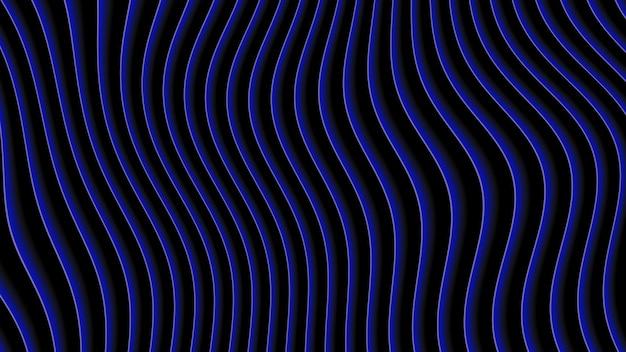 Abstracte geometrische blauwe lijnen, retro achtergrond. elegante en luxe dynamische 3d-illustratiestijl voor zakelijke en zakelijke sjabloon