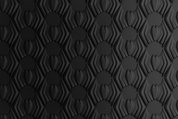 Abstracte geometrische gekleurde achtergrond op basis van een zeshoekig raster
