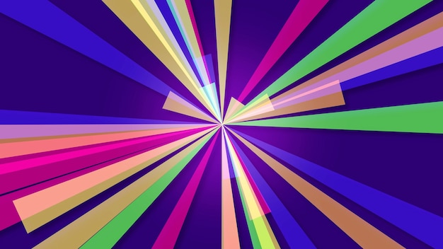 Abstracte geometrische kleurrijke lijnen, retro achtergrond. elegante en luxe 3d-illustratiestijl voor zakelijke en zakelijke sjabloon