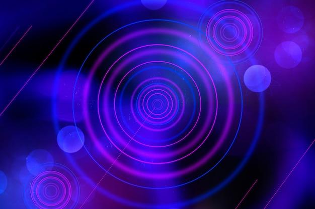 Abstracte geometrische neon gloed achtergrond