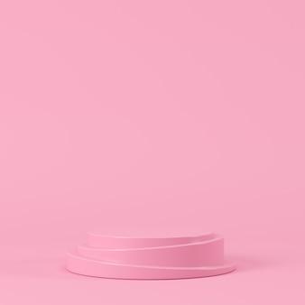Abstracte geometrische pastelkleurvorm, podiumvertoning voor product. minimaal concept. 3d-rendering achtergrond.