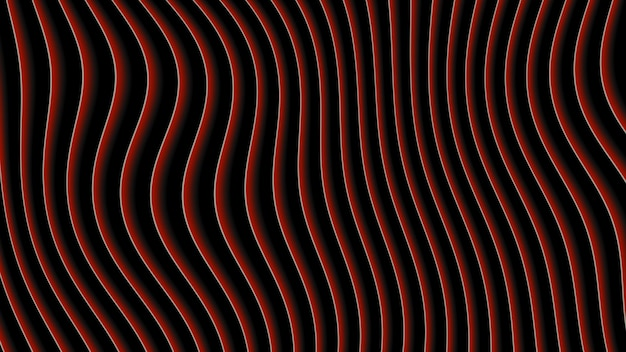 Abstracte geometrische rode lijnen, retro achtergrond. elegante en luxe dynamische 3d-illustratiestijl voor zakelijke en zakelijke sjabloon