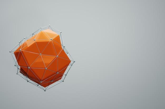 Abstracte geometrische verbonden stippen lijn plexus digitale technolog achtergrond 3d-rendering