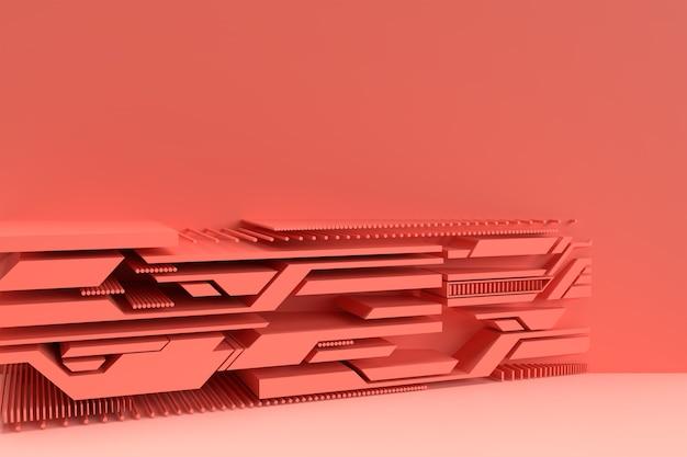 Abstracte geometrische vorm groep set minimale abstracte achtergrond 3d geometrische vormen