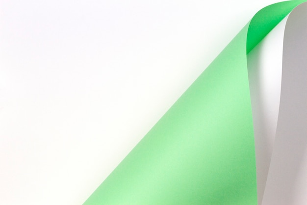 Abstracte geometrische vorm pastel groene en witte kleur papier achtergrond