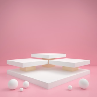 Abstracte geometrische vorm pastel kleur minimale moderne stijl muur, voor stand podium podium display tafel.