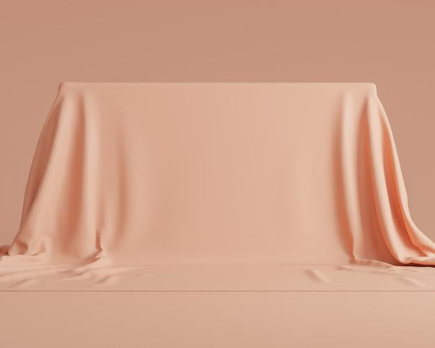 Abstracte geometrische vormachtergrond en behang met minimale stijl op pastelkleur.gebruik voor presentaties van cosmetica of producten. 3d-rendering en illustratie.
