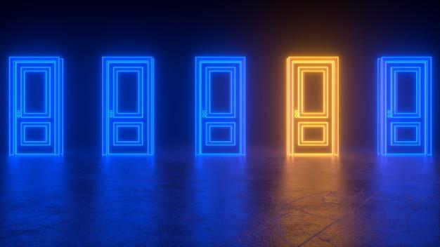 Abstracte gesloten deuren naar universum