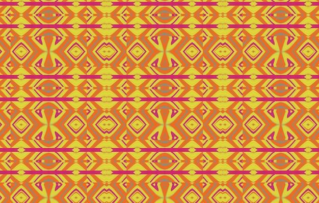 Abstracte gestreepte kleur getextureerde geometrische backgroundnaadloze ikat pattern abstract background