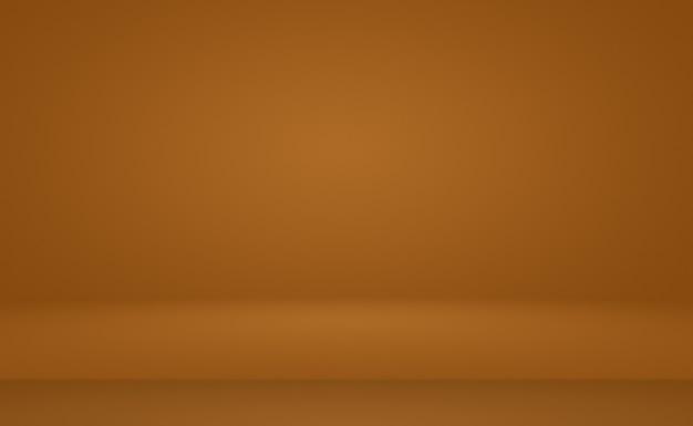 Abstracte gladde bruine muur achtergrond lay-outontwerpstudioroomwebsjabloon zakelijk rapport met vloeiende cirkel kleurverloop