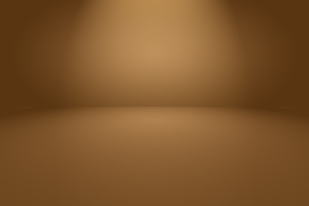 Abstracte gladde bruine muur achtergrond met vloeiende cirkel kleur voor de kleurovergang.