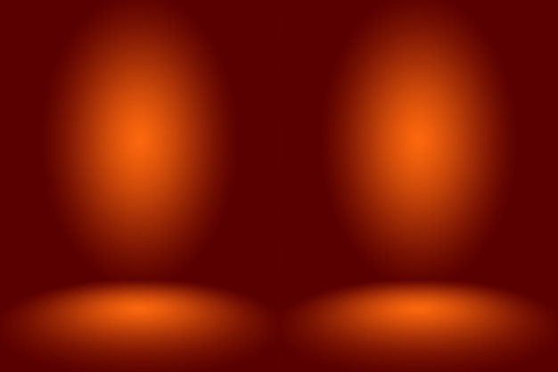 Abstracte gladde oranje achtergrond lay-out designstudioroom websjabloon bedrijfsrapport met vloeiende c...