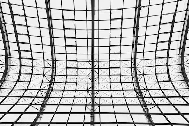 Abstracte glazen dak architectuur buitenkant van het dak