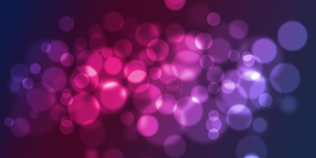 Abstracte gloeiende cirkels op een kleurrijke achtergrond