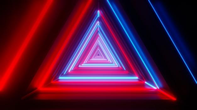 Abstracte gloeiende driehoekstunnel