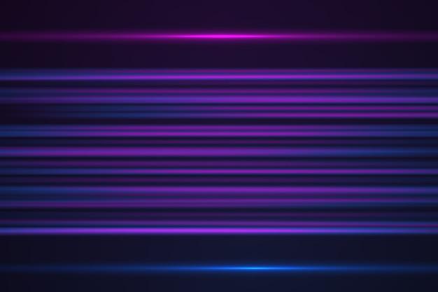Abstracte gloeiende horizontale lijnen op paarse neon kleur achtergrond