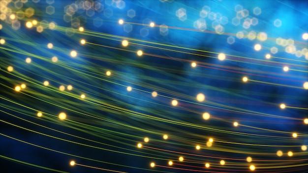 Abstracte gloeiende vezellijnen
