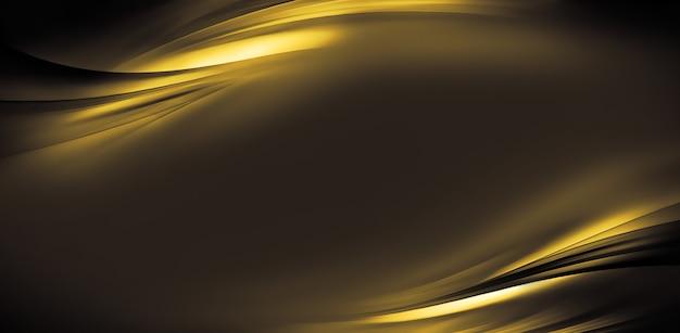 Abstracte gouden achtergrond met vloeiende golvende lijnen