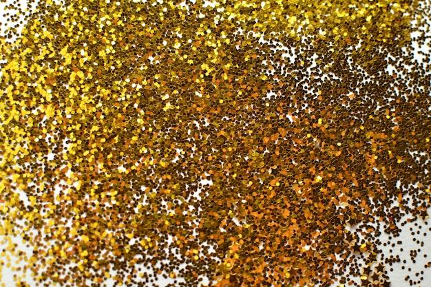 Abstracte gouden bokeh met witte achtergrond