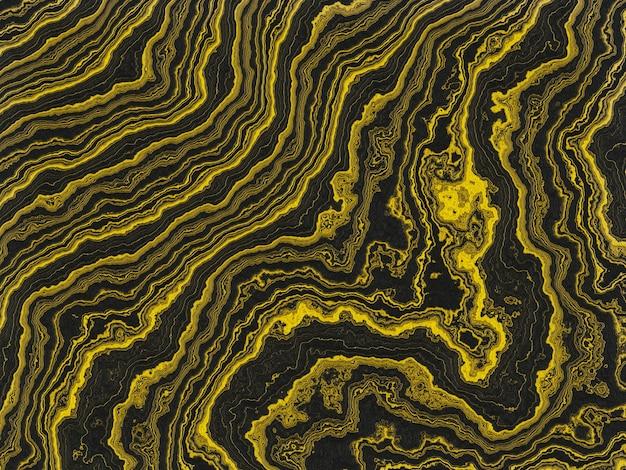 Abstracte gouden en zwarte achtergrond Premium Foto