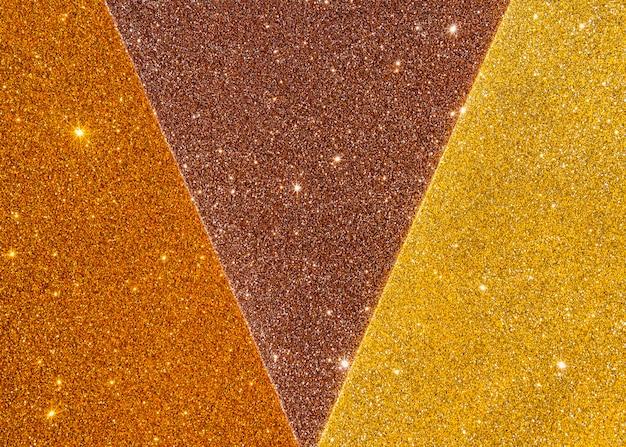 Abstracte gouden textuur in gradiënt gele lichte schaduwen