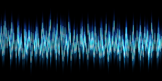 Abstracte grafische achtergrond geluidsgolven beweging lichtlijnen 3d illustratie