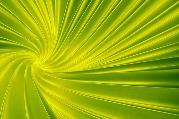 Abstracte groene achtergrond van het draaien van driedimensionale banden in de tunnel 3d-afbeelding