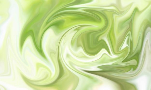 Abstracte groene vloeibare marmeren achtergrond met groene textuur voor design.