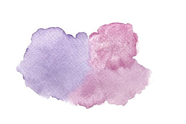 Abstracte handgeschilderde paarse en roze aquarel