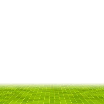 Abstracte helder groene vierkante pixel tegel mozaïek muur achtergrond en textuur.