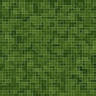 Abstracte heldergroene vierkante het mozaïekmuur van de pixeltegel