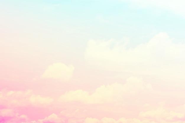 Abstracte hemelachtergrond in zoete kleur.
