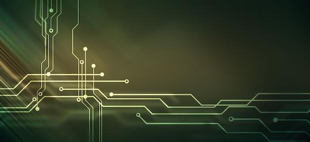 Abstracte high-tech achtergrond met printplaatontwerp