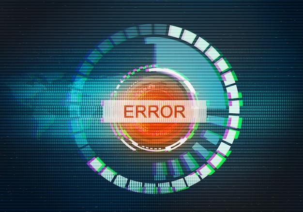 Abstracte illustratie van vervormd beeldscherm. fout in wereldwijde technologie-interface. conceptueel beeld van vhs dode pixels.