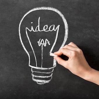 Abstracte innovatieve ideevoorstelling