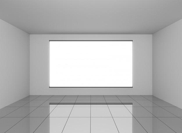 Abstracte interieur in de kamer met lege witte achtergrond
