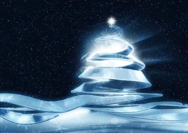 Abstracte kerst achtergrond met lint boom