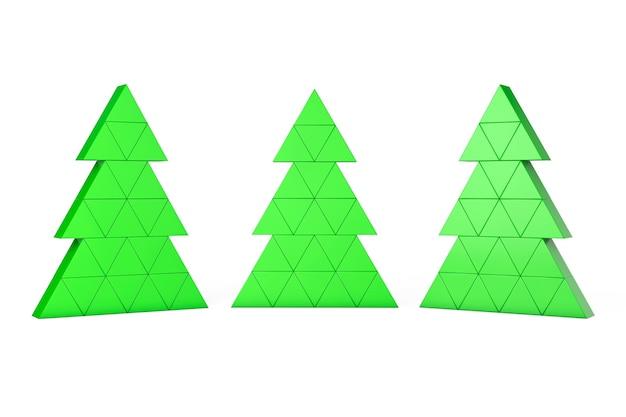 Abstracte kerstbomen op een witte achtergrond