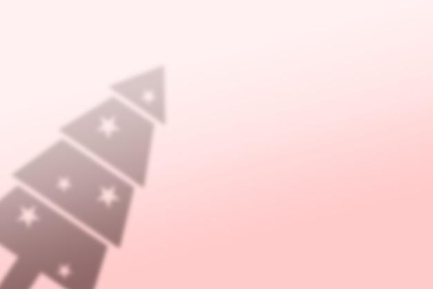 Abstracte kerstboom schaduw achtergrond