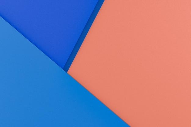 Abstracte klassieke blauw en oranje papier textuur achtergrond