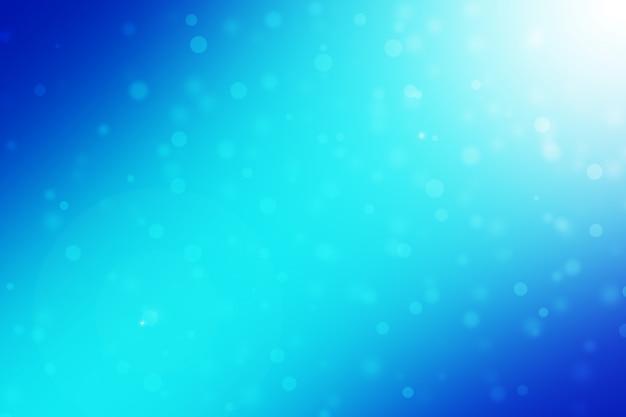 Abstracte kleine bokeh achtergrond blauwe en heldere blauwe kleurverloop flare light