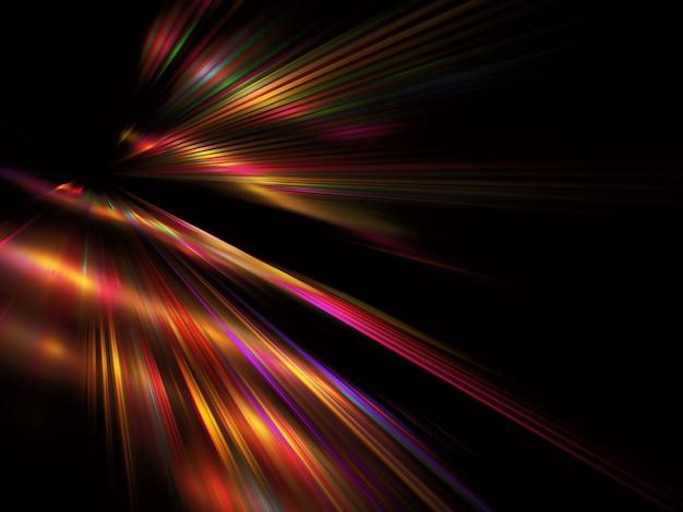 Abstracte kleur dynamische achtergrond met lichteffect. fractal golvend. fractal kunst