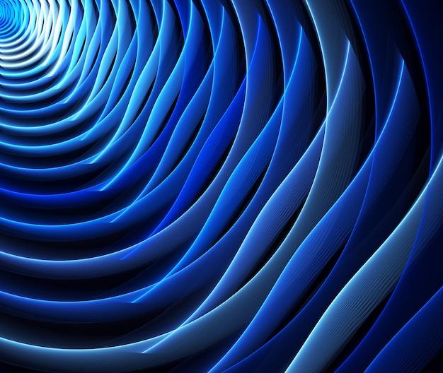 Abstracte kleur dynamische achtergrond met verlichtingseffect. fractal golvend. fractal kunst Premium Foto