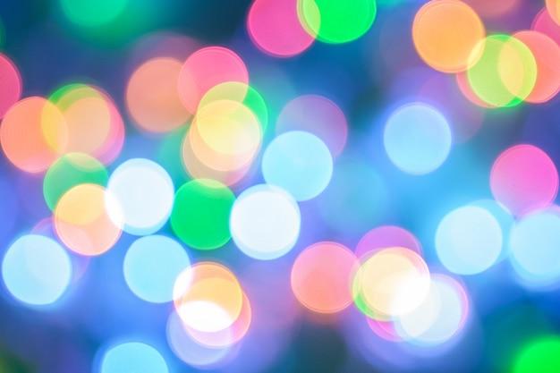 Abstracte kleuren met bokeh vervagen licht kerstmis nieuwjaar
