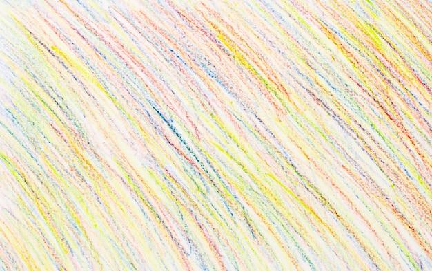 Abstracte kleurpotloodtekeningen op witboekachtergrond - textuur