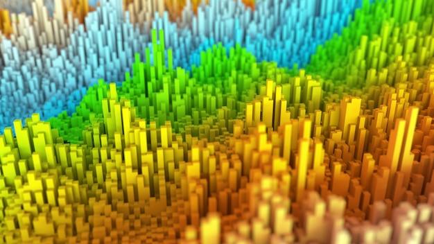 Abstracte kleurrijke achtergrond 3d render