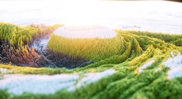 Abstracte kleurrijke achtergrond. digitale de bergrots van de natuurkunst.