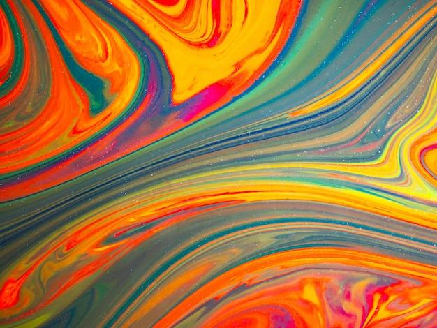 Abstracte kleurrijke achtergrond en textuur vloeibare kleurenillustratie