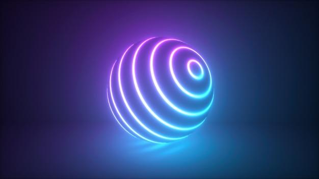 Abstracte kleurrijke gloeiende neon bol